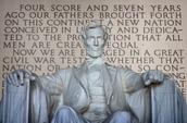Son un foto de el Monumento de Lincoln.