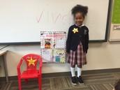 Wednesday's Star Student, Vivienne!