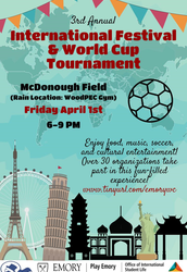 ATL Campus Event - Int'l Festival & World Cup Tournament - April 1