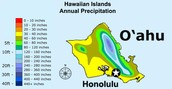 Hawaii's Rain Map