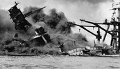 The bombing of Pearl Harbor.
