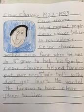 Celebrating Cesar E. Chavez/2nd Grade, Ms. Monga