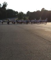 The KMHS marching band