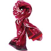 Palm Springs Scarf-red ikat