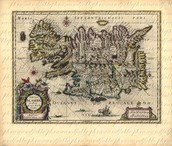 Old Map of Iceland