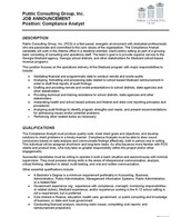 Compliance Analyst- pg. 1