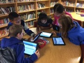 Using iPads to search for books on Destiny Quest