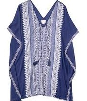 Caftan Tunic in Indigo - Medium