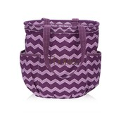 Retro Metro Bag - Plum Chevron