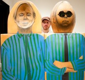 Having fun in the modern art galleries!