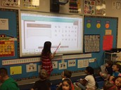 Working on the Smart Board.