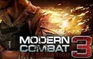 Modern Combat 3 Main Screen