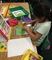 Mrs. Ready's literacy stations.