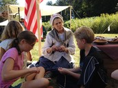 Making Cord at Overmountain Victory Celebration Trip