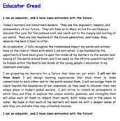 Educator Creed