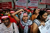 GOVERNMENT PROTESTS OF UNFAIR TREATMENT OF WOMEN