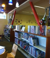-This is a picture of the children's book area