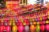 1. Light display in China Town