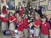 Third grade decorating the Jesse tree