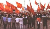 Protesters Gather In Tiananmen Square