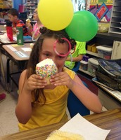 Claire's Birthday Cupcake...On Crazy Hair Day