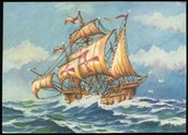 Ship when he set sail