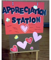 "Have an  ""Appreciation Station"" where students and teachers can leave messages of appreciation for school counselors"
