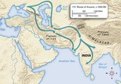 Route of the Aryans
