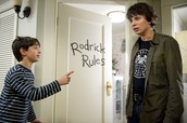 Greg teasing rodrick about how much trouble he is going to be in when his mom finds out.