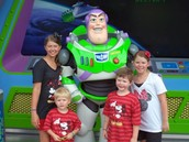The meeting of Buzz Lightyear