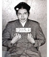 Rosa Parks when she was arrested after refusing to give up her seat.