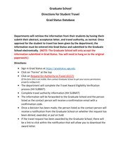 Graduate School Travel Grant Instructions (1)