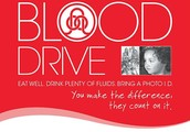 Blood Drive on November 7th