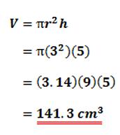 Formula for a Cylinder