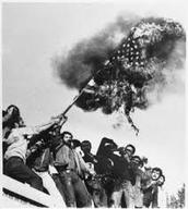 Iranians Burning the flag