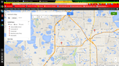 Orlando Florida's map where i like to go.