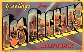 Los Angeles famous greeting sign