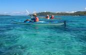 Kayac en el océano
