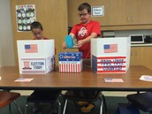 Casting our votes!