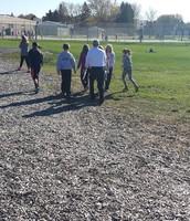 Mr. Budisch visits us at recess