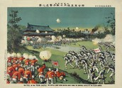 Coalition troops assaulting the Chinese palace