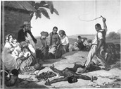 """Whipping a Fugitive Slave, French West Indies 1840s"""