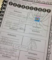 Vocabulary journaling