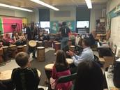 Mr. Garrepy's class enjoying the workshop.