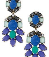 Peacock Convertible Chandelier Earrings