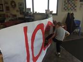 100 day banner! Step through the zeros