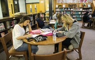 Students enjoy doing homework @ the library