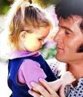 Elvis with his daughter