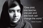 Malala was born on July 12, 1997