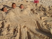 Us getting buried under the sand